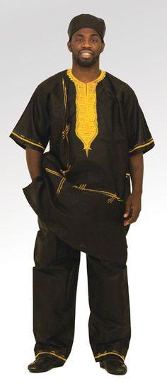 Men's Brocade Pant Set - Black, Utopia Designs & Accessories $87.00