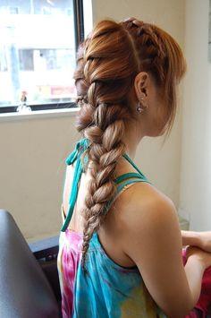 Cute Braided Hairstyles for Long Hair: Dutch Braided Headband