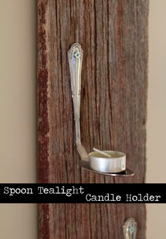 Spoon Tealight Candle Holder - Pretty Handy Girl