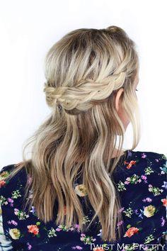 Lace Crown Braid Tutorial - Twist Me PrettyTwist Me Pretty