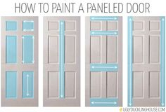 DIY Beautiful High Impact Low Cost Home Project Foolproof way to paint a paneled Door !