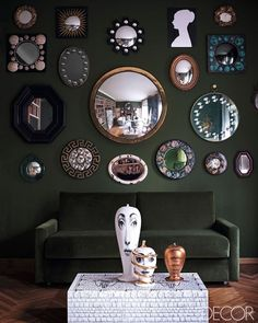 Cool mirror collection for some wall art! #decor #interiors