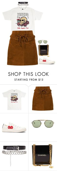 """""""Geen titel #1531"""" by chanelzizzles ❤ liked on Polyvore featuring Faith Connexion, Play Comme des Garçons, Garrett Leight and Chanel"""