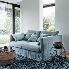 Alfombra de tejido plano con motivo kilim de lana, markus azul índigo Am.Pm. | La Redoute