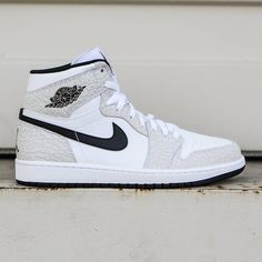Jordan Men Air Jordan 1 Retro High (white / black / pure platinum)