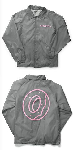 Add to your OFWGKTA style with a pink OFWGKTA left chest graphic and donut logo on the back plus a soft fleece lining for comfort and drawstring adjustable hem for fit