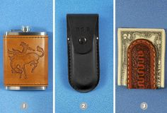 Surprise your pops with a flask or money clip from the Colorado Workshop's #leather goods.