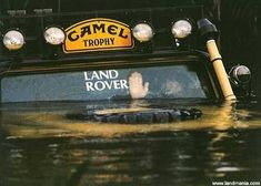 Camel Trophy. Just waving at an other Land Rover driver...