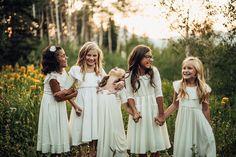little girl squad style on point .. little white dress .. wild flowers .. free spirits ..