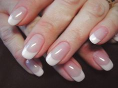 french nails tips Black French Nails, French Acrylic Nails, Almond Acrylic Nails, French Manicures, Fiberglass Nails, Sns Nails, Nail Manicure, Natural Nail Designs, Round Nails