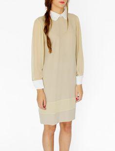 Vestido Color Beige (Sencillo)