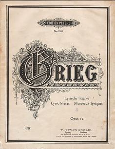 Grieg sheet music cover