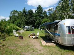 Airstream caravans at Lazy Meadow, Catskills Mountains, NY. Retro fun run by Kate Pierson of the B52's :)