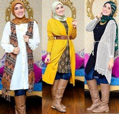 long cardigans fall hijab outfits