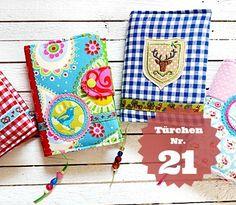 Buchhüllen nähen http://regenbogenbuntes.blogspot.de/2011/09/tutorial-buchhullen.html