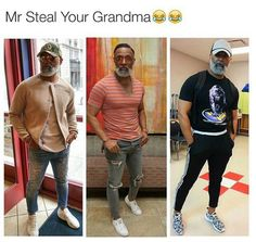 No but fr this is how black guys of this generation are gonna dress when they get old | Follow @melaninprincess