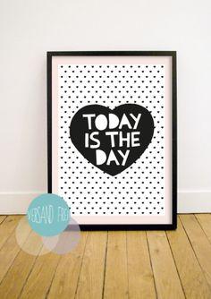 Poster Herz // print heart by Little Man Happy via DaWanda.com