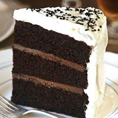 """Black Pearl Layer Cake Recipe Chey- this sounds unbelievable- wish I had time to do the """"Grooms Cake""""! This would be it"""