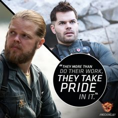 Working together to film history… brothers Pollux and Castor. #Mockingjay