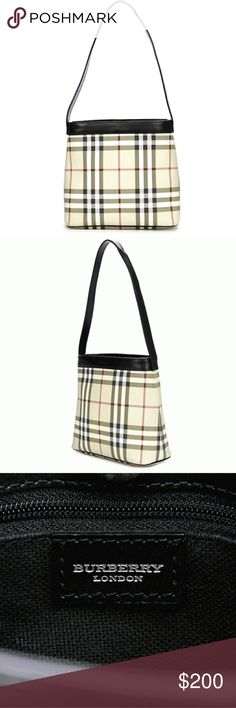 BURBERRY  NOVA CHECK COATED CANVAS CANONBURY BAG AUTHENTIC IN EXCELLENT LIKE NEW CONDITION Burberry Bags