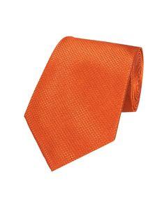 Men's Plain Rust Basket Weave 100% Silk Tie