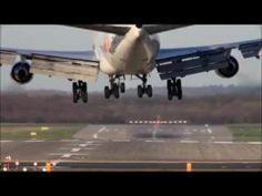 Boeing 747 400 very hard Landing HD - YouTube