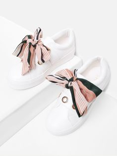 Shop Bow Decorated Slip On Sneakers online. SheIn offers Bow Decorated Slip On S… Shop Bow Decorated Slip On Sneakers online. Latest Sneakers, Slip On Sneakers, Sneakers Fashion, Fashion Shoes, Ootd Fashion, Shoes Sneakers, Fashion Bags, Fashion Dresses, Sneakers Style