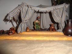 Tienda / Jaima Fairy Houses, Diy, Painting, Bethlehem, Fairies, Homes, Christmas, Carp, Belly Dance