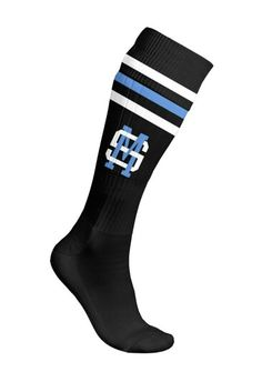 Shawn mendes black blue and white knee high socks