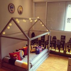 60 Montessori Room Options That Are a Flush Explosion! Boy Toddler Bedroom, Baby Bedroom, Boy Room, Boys Room Design, Bed Design, Shared Boys Rooms, Cute Furniture, Montessori Bedroom, Cozy Bed