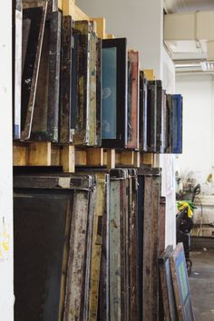 Craft NI making it '13 participant René Mullin is based at Belfast School of Art. Image of her workspace by Simon Mills.