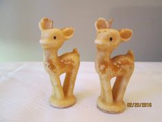 Vintage Tavern Candle Socony Vacuum Co Made in USA Deer Fawn Woodland Candles by chulapoe on Etsy