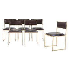 Really need these.  6 dining room chairs by Willy Rizzo - for Cidue Italy