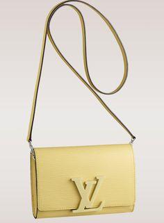 e4623bb1e353 Louis Vuitton Louise Epi Leather Shoulder Bag Jaune Pale Lv Handbags