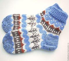 """Купить Носки шерстяные """"Сочиняем сказку"""" - шерстяные носки, носки вязаные, носки с орнаментом"""
