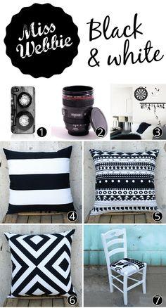 Black And White Αντικείμενα Για Το Σπίτι / Black And White Decoration Ideas