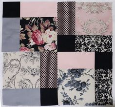 Disappearing Nine Patch - I like the pink and black