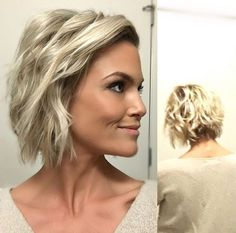cool Short choppy blonde bob IG: Krissa Fowles...