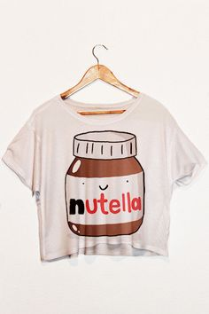 Free Shipping! Nutella Crop Top! ***Whilst Stocks Last*** great gift idea, nutella merchandise. Womens Nutella Crop Top! Nutella Print tank