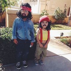 My friend's daughters last Halloween as Cheech and Chong Check more at http://www.funniestmemes.com/funny-memes-my-friends-daughters-last-halloween-as-cheech-and-chong/