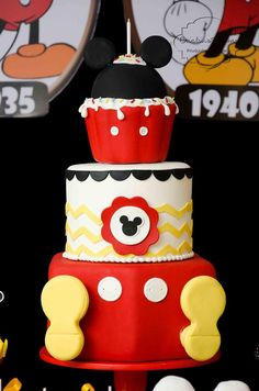 Cake for a Mickey Mouse Birthday Party
