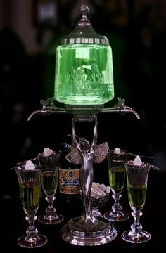 Classic style, Classic life, Classic mind Classic style we are addicted to Absinthe Drinker, Green Fairy Absinthe, Rum, Art Nouveau, Art Deco, Liqueur, Our Lady, Mixed Drinks, Decanter