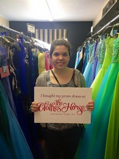 Want to Win Your #PromDress? All you have to do is shop from our amazing selection of new prom dresses at our Orchard Park, NY shop, post a photo to our Facebook or Instagram and save your receipt. One lucky customer will get the cost of their dress refunded after June 1. #ClothesHorseProm15