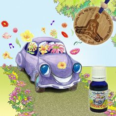 Essential Oils for a happy, wholesome car. Create the right travelling ambience with pure essential oils. A divine, natural air freshener for your car. Natural Air Freshener, Practical Gifts, Pure Essential Oils, Biodegradable Products, Bamboo, Recycling, Kit, Pure Products, Make It Yourself