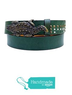 "Green Crocodile Leather Belt 121 cm (47.64"") BLT853 from Nazo Design https://www.amazon.com/dp/B01G2F592U/ref=hnd_sw_r_pi_dp_fGU5xbDCV3P73 #handmadeatamazon"