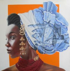 'Zeeuws meisje met vissen'  African/Dutch girl in Zeeland, The Netherlands Afro, curly.