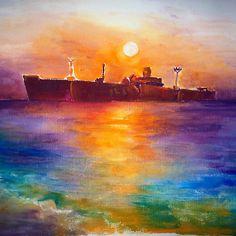 The shipwreck Evangelia at Costinesti