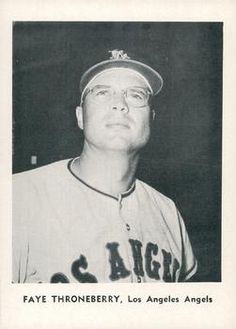 1961 Jay Publishing Los Angeles Angels #NNO Faye Throneberry Front