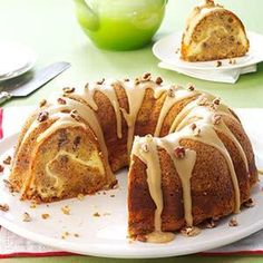 Use this icing with the Caramel Apple Cake. William Tell's Never-Miss Apple Cake Recipe -I bake my family-favorite fall cake to usher in this abundant season. It looks so luscious that eating one piece is nearly impossible. Apple Cake Recipes, Apple Desserts, Just Desserts, Delicious Desserts, Dessert Recipes, Potluck Recipes, Apple Spice Cake, Fresh Apple Cake, Apple Pie