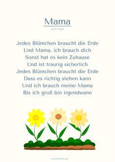 """""""Mama"""" (1) Muttertags-Gedicht - wird sicher bald ein Lied - mehr Strophen auf www.kitakiste.jimdo.com"""